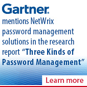 "NetWrix password management software mentioned in Gartner research report ""Three Kinds of Password Management"""