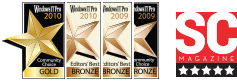 Windows IT Pro awards that Netwrix Active Directory Change Reporter received as Best Active Directory and Group Policy Product and Best Auditing and Compliance Product  in 2009, 2010 and 2012 years