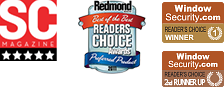 WindowSecurity.com Readers Choice Award and Redmond Magazine Readers' Choice Award that NetWrix Group Policy Change Reporter received in 2010, 2011 and 2012