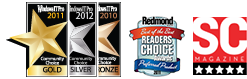 Windows IT Pro Community Choice Awards of 2010 and 2011 and Redmond Magazine Readers' Choice Award of 2011 that NetWrix SharePoint Change Reporter received as Best SharePoint Product