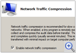 Network traffic compression option dialog window
