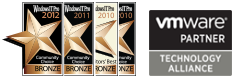 Windows IT Pro Community Choice and Editors' Best Awards of 2010 and 2011 that Netwrix VMware Change Reporter received as Best Virtualization Product