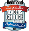 Redmond Magazine Readers' Choice Award of 2011, received by Netwrix Group Policy Change Reporter as Preferred Product in the Best Group Policy Tool category.