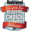 Redmond Magazine Readers' Choice Award of 2011, received by Netwrix SQL Server Change Reporter as a winner in the Best SQL Tool category.