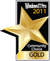 Windows IT Pro Community Choice Gold Award of 2011, received by Netwrix SharePoint Change Reporter as Best SharePoint Product.