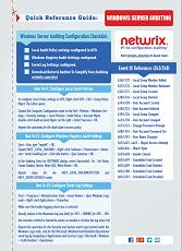 Windows Server Audit Checklist