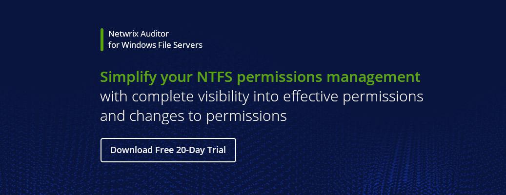 NTFS Permissions Management Best Practices