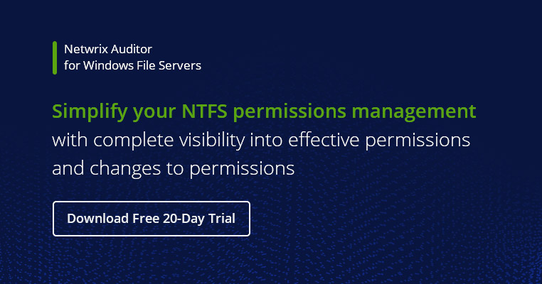 Ntfs Permissions Management Best Practices