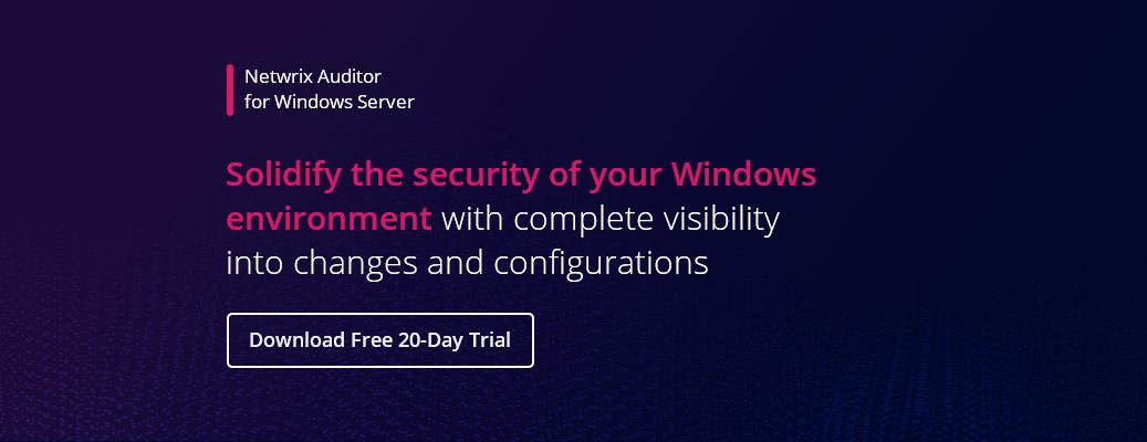 Windows Server Hardening Checklist