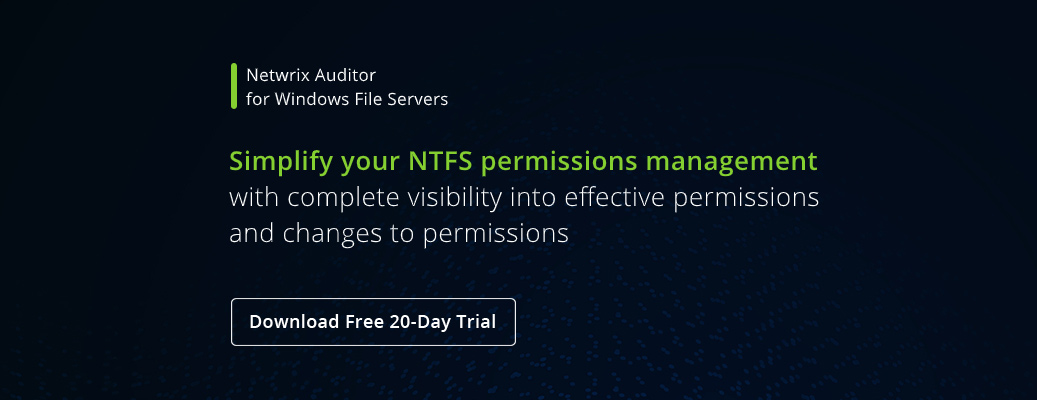 NTFS Permissions Management Best Practices- banner image