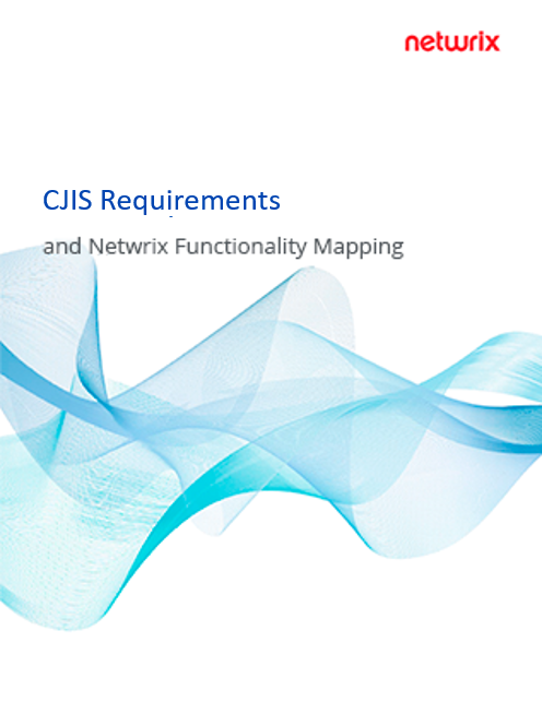 CJIS Requirements and Netwrix Functionality Mapping