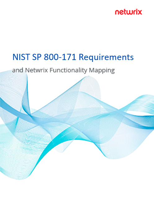 NIST SP 800-171 Requirements and Netwrix Functionality Mapping