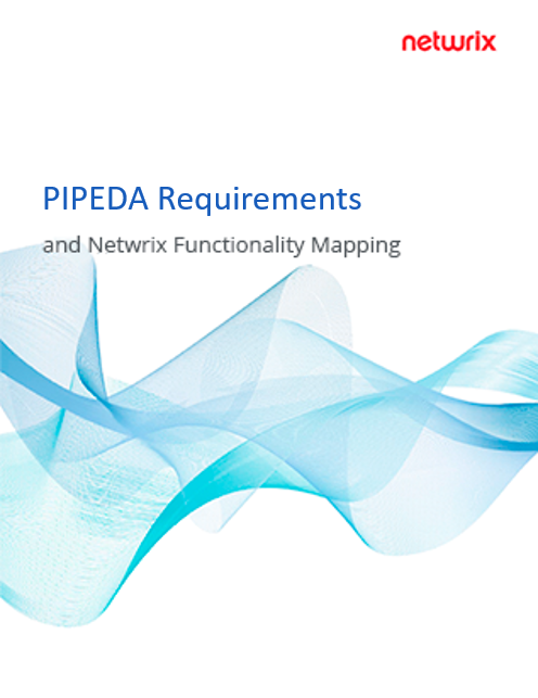 PIPEDA Requirements and Netwrix Functionality Mapping
