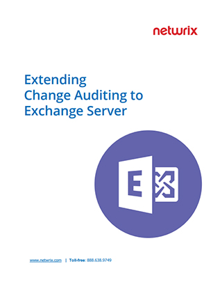 Extending Change Auditing to Exchange Server