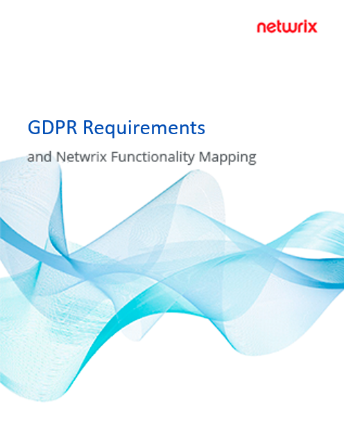 GDPR Requirements and Netwrix Functionality Mapping