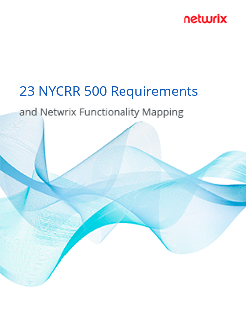 23 NYCRR 500 Requirements and Netwrix Functionality Mapping