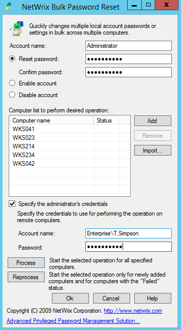 Netwrix free tools password lockout net install instructions