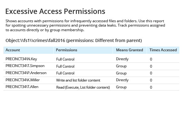 Enable full control over individual access privilege