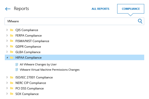 Compliance reports from Netwrix Auditor for HIPAA