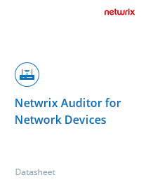 Netwrix Auditor for Apparati di Rete