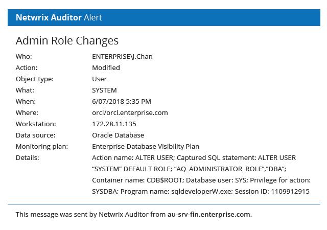 Oracle Database Auditing with Netwrix Auditor