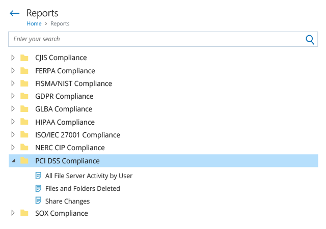 File Integrity Monitoring Compliance Reports PCI DSS