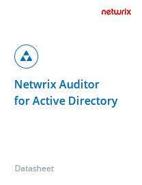 Netwrix Auditor for Active Directory