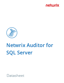 Netwrix Auditor for SQL Server