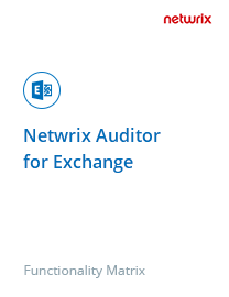 Netwrix Auditor for SharePoint and Exchange