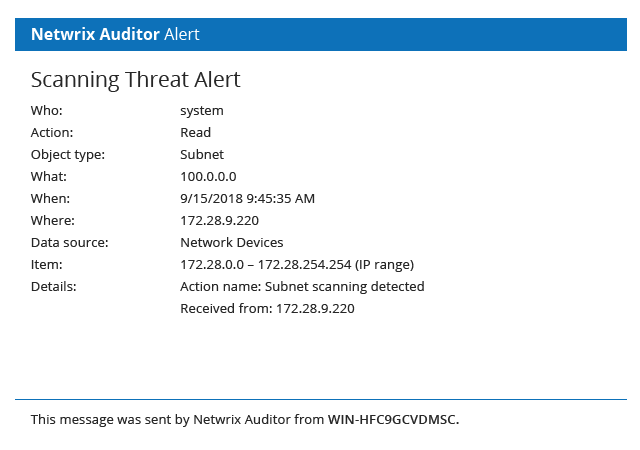 Network Security Auditing Software from Netwrix