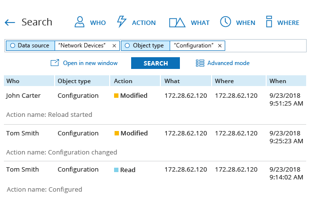 Configuration Changes on Cisco Network Devices