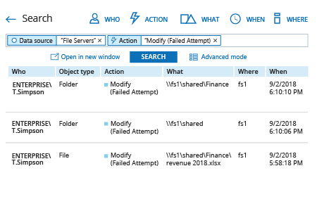 Detect Who Tried to Modify a File or a Folder with Netwrix Auditor