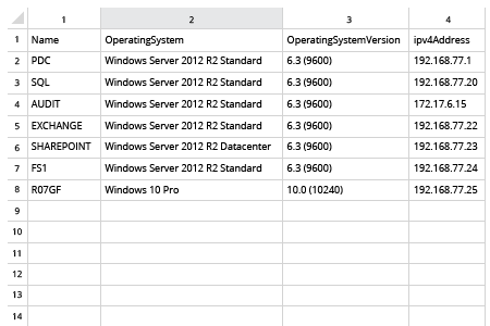 List of computers from AD in CSV file