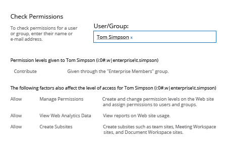 Check SharePoint Permissions with Native Capabilities