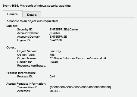 Sample Report - How to Detect Who Deleted a File from Your Windows File Servers