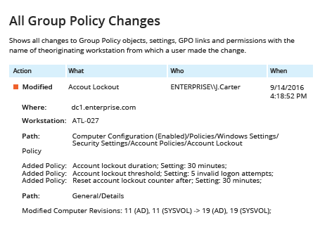 Netwrix Report - How to Audit Group Policy Changes  using the Security Event Log
