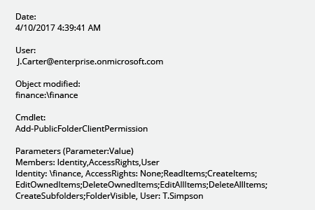 Top of Permissions Changes to Public Folders in Exchange Online