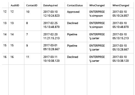 Sample Report - SQL Server Audit Trigger