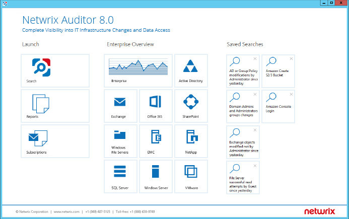 Enable continuous information system auditing with Netwrix Auditor