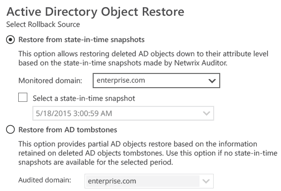 Recover Active Directory with ease and roll-back any unwanted change