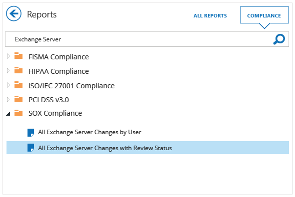 Pass Exchange audits faster with out-of-the-box compliance reports