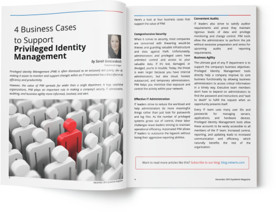 4 Business Cases to Support Privileged Identity Management