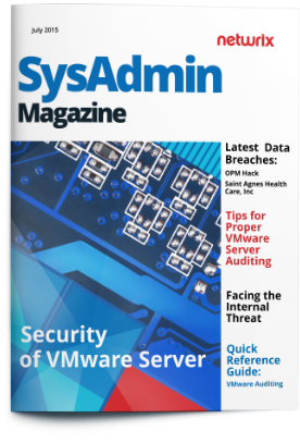 Sysadmin Magazine Security Of Vmware Server