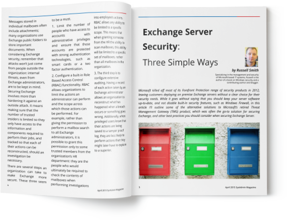 Keeping Your Exchange Server Secure