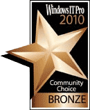 Windows IT Pro Community Choice Bronze Award of 2010