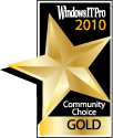 Windows IT Pro Community Choice Gold Award of 2010