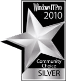 Windows IT Pro Community Choice Silver Award of 2010